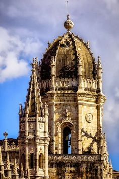Lisbon, Jerónimos Monastery main tower #Portugal
