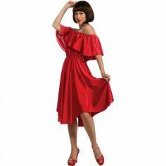 Disfraz de Fiebre del Sábado Noche Vestido Rojo: comprar online
