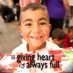 A giving heart is always full.