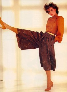 Stephen Anderson for Vogue Patterns magazine, July/August 1982. 1980s Fashion Trends, 80s And 90s Fashion, Retro Fashion, Vintage Fashion, Fashion Outfits, Womens Fashion, Fashion Fashion, Look 80s, Look Girl