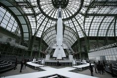 Beam me up: No expense has been spared on the show which features a giant spaceship inside...
