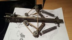 Russian Crossbow Homemade Crossbow, Diy Crossbow, Homemade Weapons, Sling Bow, Archery Bows, Concept Weapons, Metal Projects, Weapons Guns, Survival Tools