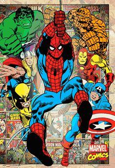 Marvel Comics - Thor - Spiderman - Hulk - Wolverine - X-men - Captain America - Fantastic Four Marvel Dc Comics, Marvel Gif, Marvel Heroes, Marvel Avengers, Comic Book Heroes, Comic Books Art, Comic Art, Mundo Comic, Marvel Wallpaper