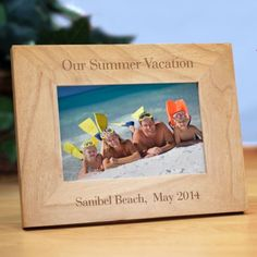 Personalized Vacation Wood Picture Frame