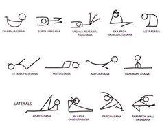 how to sun  moon salutations  yoga  pinterest  yoga