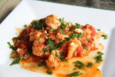 Shrimp and Tomato Casserole by glow kitchen #Shrimp #Tomato #Healthy