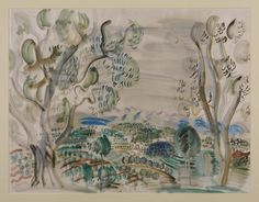 Raoul Dufy 'Olive Trees by the Golfe Juan', c.1927