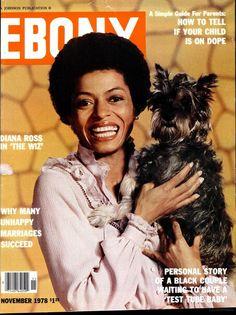 Diana Ross on Ebony magazine cover