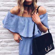 Off-the-shoulder and chambray? We've fallen in L-O-V-E!
