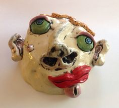 Silly Ceramic Head made in my workshop on the TcheFUNcte River! Join us!