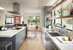 Learn more about the firm Ana Williamson Architect based in Menlo Park Menlo Park California, Kitchen Dining, Kitchen Cabinets, Living Area, Kitchen Remodel, Architecture Design, Table, House, Furniture