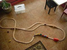 example of ikea train layouts Ikea Train Set, Train Table, Short People, Wooden Train, Thomas The Train, Train Layouts, Train Tracks, Toy Storage, Old Toys