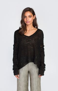 Wildfox Couture Night V-Neck Sweater