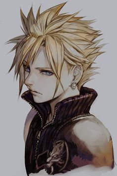 Cloud strife fanart - ffvii all things final fantasy последн Final Fantasy Vii Remake, Final Fantasy Tifa, Final Fantasy Characters, Final Fantasy Artwork, Fantasy Heroes, Fantasy Drawings, Fantasy World, Final Fantasy Tattoo, Cloud And Tifa