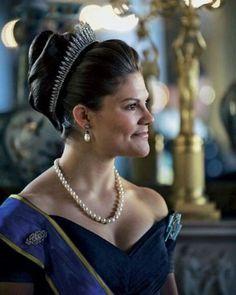 A beautiful portrait of Crown Princess Victoria, future Queen of Sweden