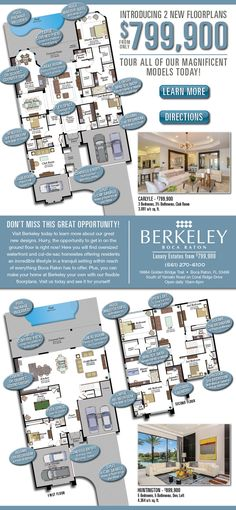 Introducing 2 New Floorplans at Berkeley