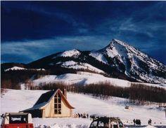 Crested Butte Mountain Resort circa 1961. #crestedbutte #skiresort