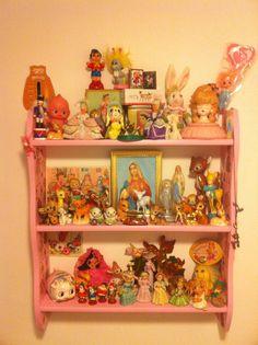 Vintage toy shelf
