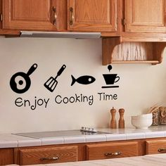 Enjoy Cooking Time Wall Quote Decal //Price: $ 9.95 & FREE shipping //  #interiordesign #interior #walldecal #wallsticker #wallstickermurah #decor #walldecor #walldecals #homedecor #wallart #design #decor #wallstargraphics