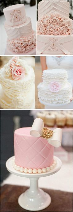 wedding cakes in pink color