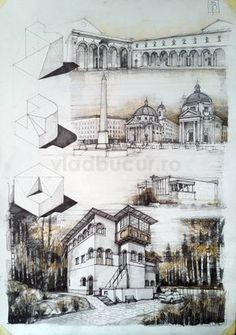 Subiecte – Page 3 – Vlad Bucur Architecture Sketchbook, Architecture Board, Architecture Student, Interior Architecture, Architecture Collage, Building Drawing, Building Sketch, Schematic Design, Architecture Presentation Board