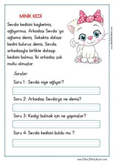 Turkish Lessons, Learn Turkish, Subtraction Worksheets, Turkish Language, Classroom Rules, Learning Arabic, Reading Passages, Stories For Kids, Short Stories
