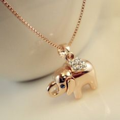 GET $50 NOW | Join RoseGal: Get YOUR $50 NOW!http://www.rosegal.com/necklaces/fashion-cute-diamante-elephant-pendant-64044.html?seid=5923326rg64044