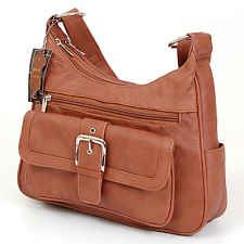 Womens Genuine Leather Shoulder Bag Tote Organizer Purse 7 Pocket Handbag Hobo