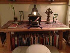 Buddha Prayer Corner, Home Altar, Altars, Buddhism, Zen, Master Bedroom, Mindfulness, Spirit, Woman