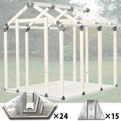ジョイフル本田のネット通販です。 木材・建材 SPF材・荒材・角材 2×4 2x4basics シェッドキット ピークルーフ #19020 ツーバイフォーベーシックの品揃えを豊富に取り揃えています。こちらの商品は【特長】 ◆2×4材(防腐材や規格材など)を使用して、三角屋根タイプの小屋を簡単で製作できる金物のセットです。 ◆屋根部など、角度が必要な場所の施工には、通常であれば角度カットが出来る丸のこ等が必要になりますが、 このシェッドキット ピークルーフを使用すれば、2×4材を斜めカットせずに、簡単に屋根の角度で接合できます。 ◆2×4材(防腐材や規格材など)の長さを自在に変更できるので、お好きなサイズや形の小屋や物置をお作り頂けます。 【セット内容】 ◆コーナー用大金具(142×283mm)×24枚 ◆支柱固定金具(87×120mm)×15枚 ◆組立て説明書 【別途ご用意いただくもの】 ◆規格材 ◆防腐加工材 ◆合板 ◆その他、外壁材(野地板など)、ルーフィング、屋根材、ビス、塗料、各種工具などが必要になります。 【生産国】 アメリカ 【メーカー】…