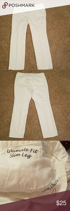 "Chico's Platinum Denim Jeans...NWOT. Ultimate fit slim leg.  Size 2.5 short. 99% cotton and 1% spandex. Waist 18"" across Rise 10.5"" Inseam 28.5"" Chico's Jeans"