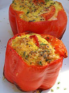 Easy Gluten Free Bell Pepper Breakfast Bowl #breakfast recipes #healthy