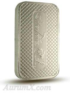 Silvertowne 5oz .999 Fine silver bar reverse