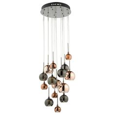 Dar AUR1564 Aurelia 15 Light Bronze | Copper Cluster Pendant Ceiling Light from Lights 4 Living