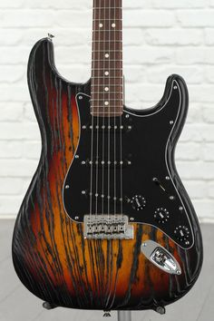 Fender Sandblasted Stratocaster, Sweetwater USA Exclusive - 3-tone Sunburst with Rosewood Fingerboard image 1