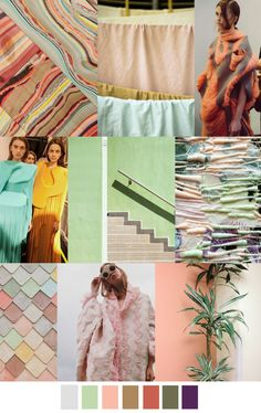 MELANCHOLY MELON color palette. For more follow www.pinterest.com/ninayay and stay positively #inspired.