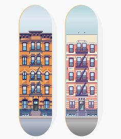 two apartment buildings on E 10th St. by Nathan Manire