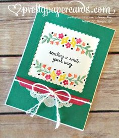 Affectionately Yours, Stampin' Up! Layering Squares Framelits, prettypapercards