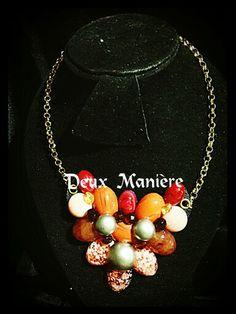 Vintage Necklace pink-gold. Encuentralo por Deuxmaniere@gmail.com