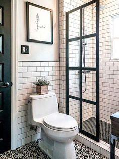 50 Small Master Bathroom Makeover Ideas On A Budget Http with small bathroom design ideas plans regarding Comfortable Tiny House Bathroom, Bathroom Design Small, Attic Bathroom, 1950s Bathroom, Office Bathroom, Bathroom Layout, Simple Bathroom, Bath Design, Bathroom Modern