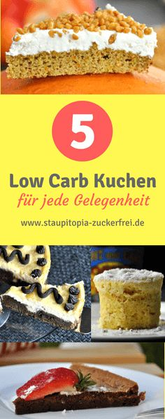 5 Low Carb Kuchen glutenfrei, zuckerfrei, ohne Mehl, ohne Zucker, einfach, schnell, ohne Kohlenhydrate und mit wenigen Zutaten