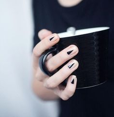 Cool triangles painted with black nail polish