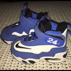 Nike Nike Air Ken Griffey Jr Max 1 toddler size 5c. Never worn. Great condition. New without tags or box. One small stain (not even sure when or how; maybe even before we bought them ) on back of left heel. Nike Shoes Sneakers
