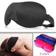 MOONBIFFY 1 PCS HOT SALE 3D Portable Soft Travel Sleep Rest Aid Eye Mask Cover Eye Patch Sleeping Mask Case