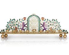 Menorah Hanukkah, Judaica, Hand Made in Israel, Jewish Holidays,Chanukah, Jewish Wedding gift
