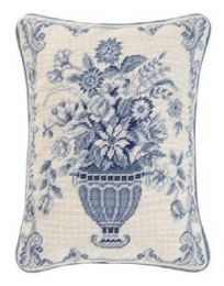 C&F Williamsburg floral needlepoint pillow