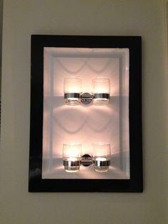 DIY tealight candle wall art