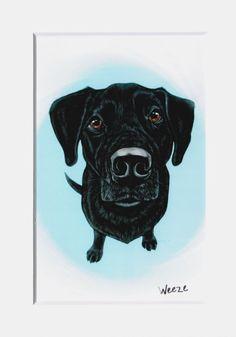 Black Labrador Retriever Dog  Black Labrador Art  by ArtbyWeeze, $7.00