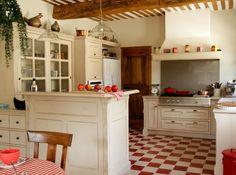 voilà les teintes dominantes de la cuisine, telle que je la souhaite... peut-être en plus chaleureux