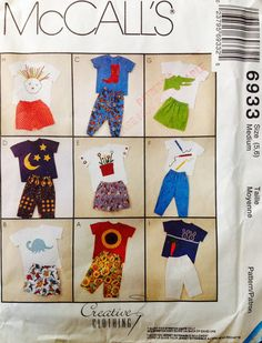 McCall's 6933 UNCUT Children's T shirts and pants by Lonestarblondie